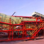 Support structure for process feeder